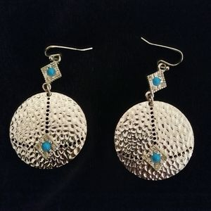 Silver Round Earrings